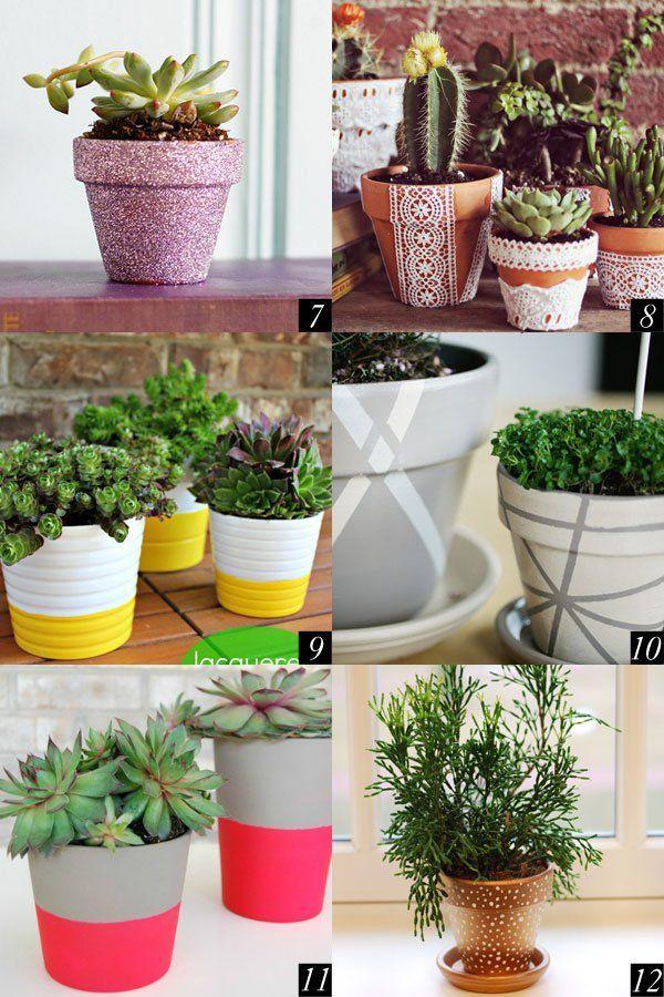 12 Super Cute Ways to DIY Flower Pots __ Twin…