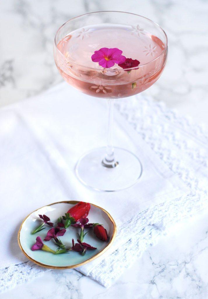 57 Rosé Floral Fling Cocktail - Twin Stripe Blog